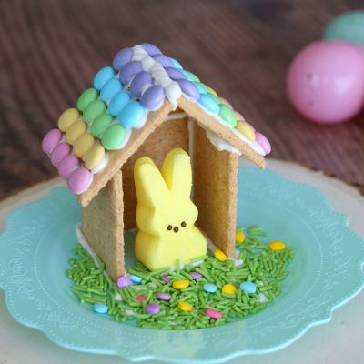 Make a cute Peeps house (Easter gingerbread houses)