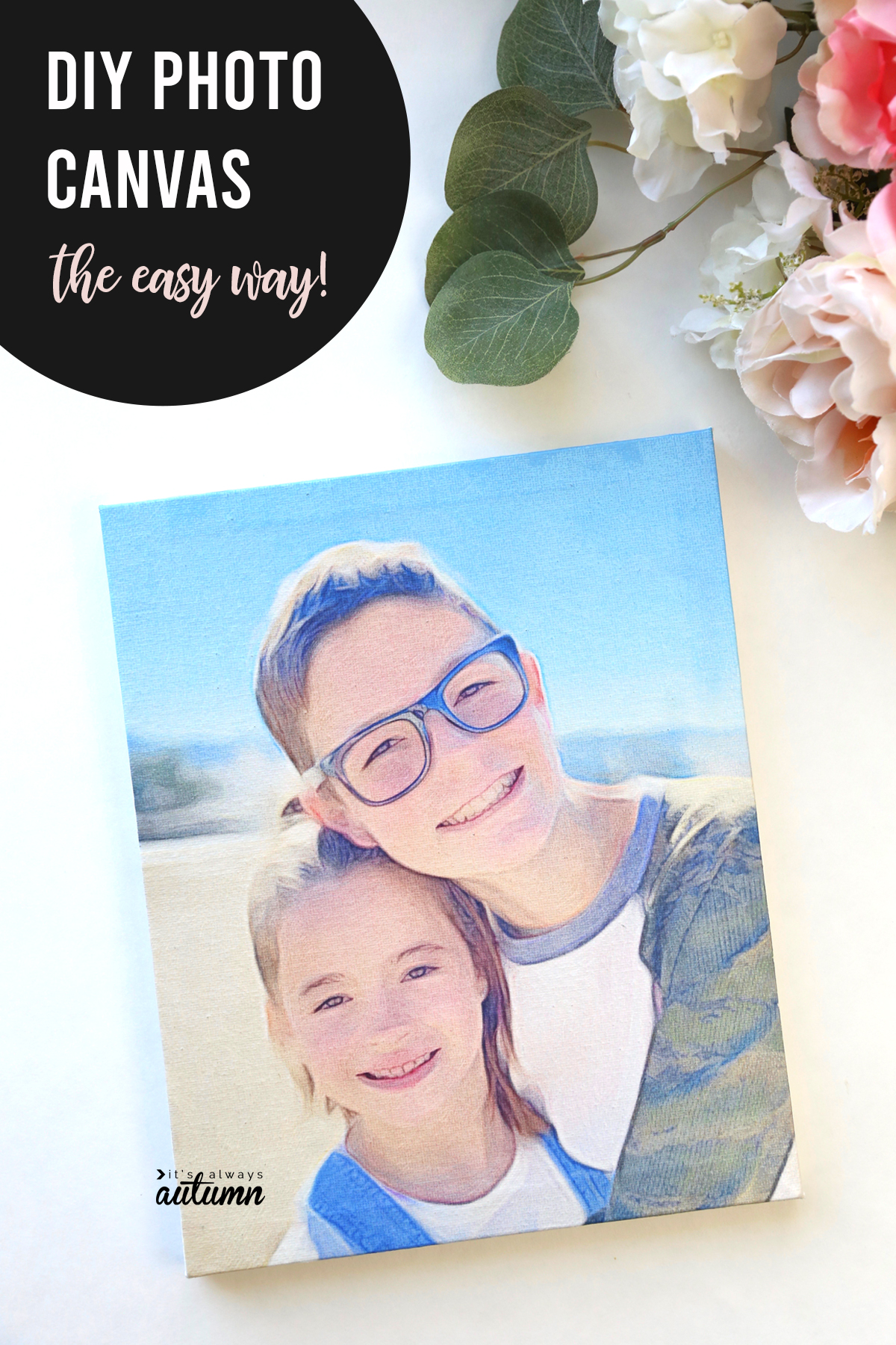 The is the EASIEST and most reliable way to transfer a photo to canvas!