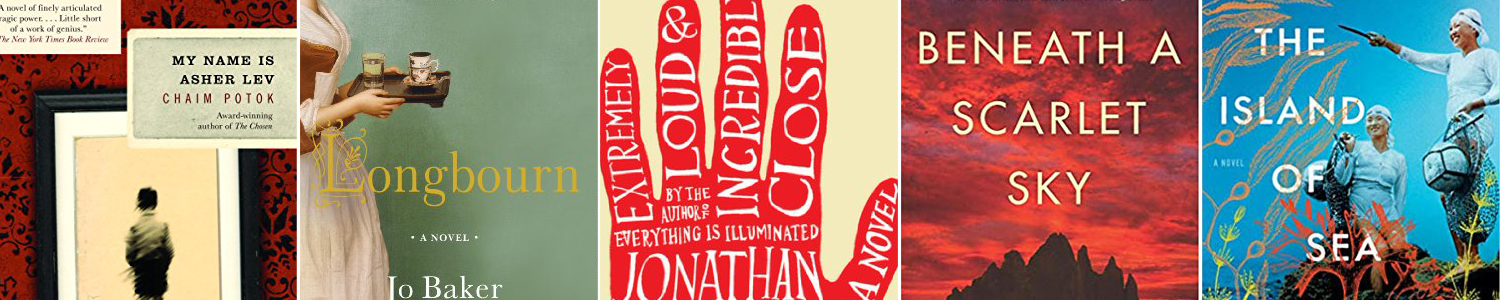 Book cover for the book Extremely Loud & Incredibly Close; drawing of a red hand