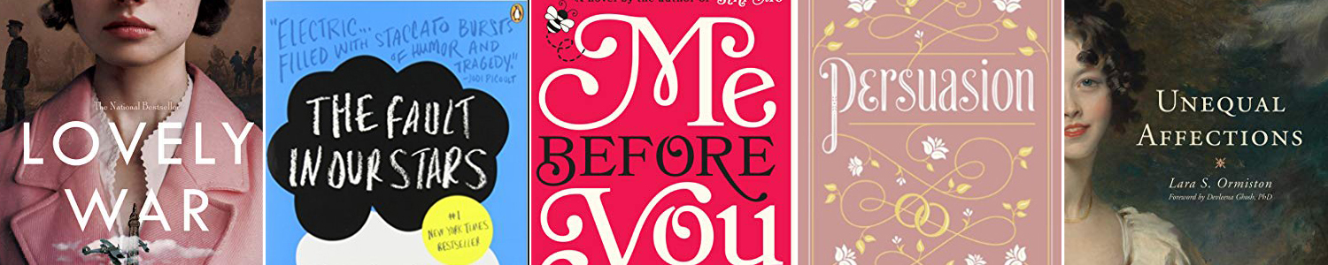 Book cover for the book Me Before You, words on a red background