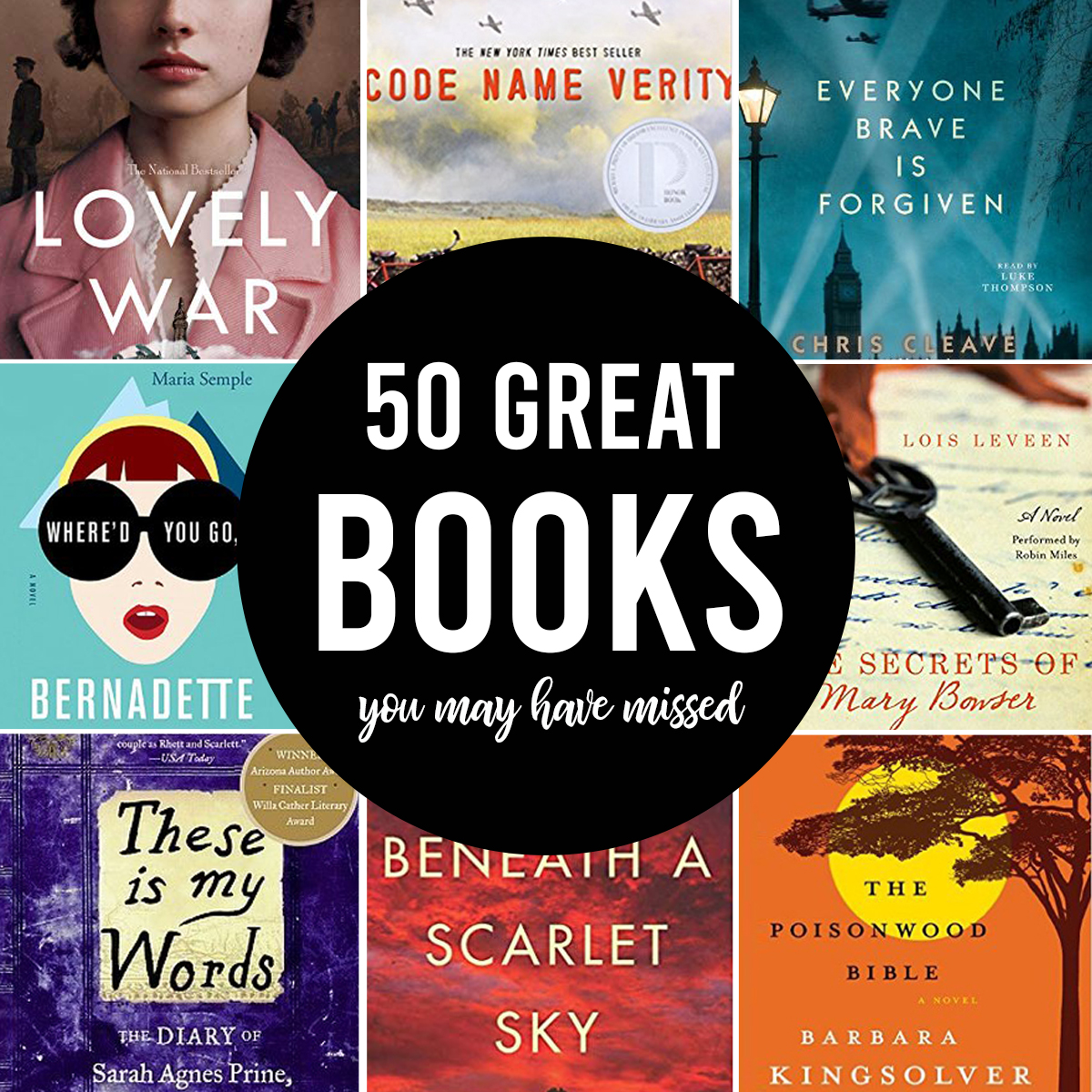 Collage photo of book covers with words: 50 great books you may have missed