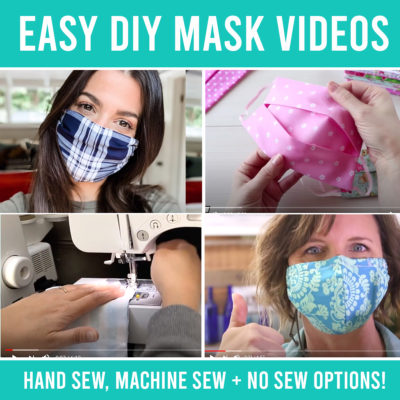 The best EASY homemade face mask VIDEOS {including no sew options}