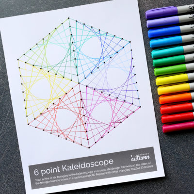 Geometric Line Art Worksheets {easy art project for kids!}