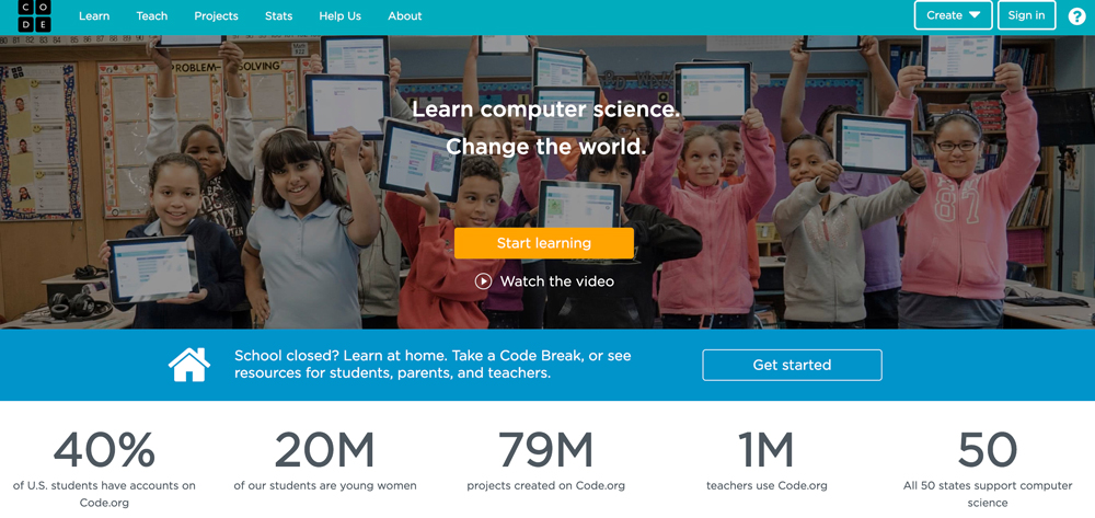 Free online coding class for kids