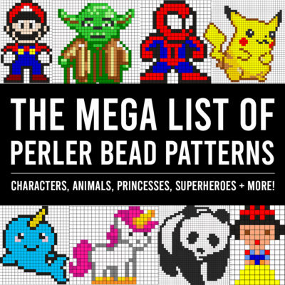The GIANT list of Perler Bead Patterns {fuse beads, melty beads}