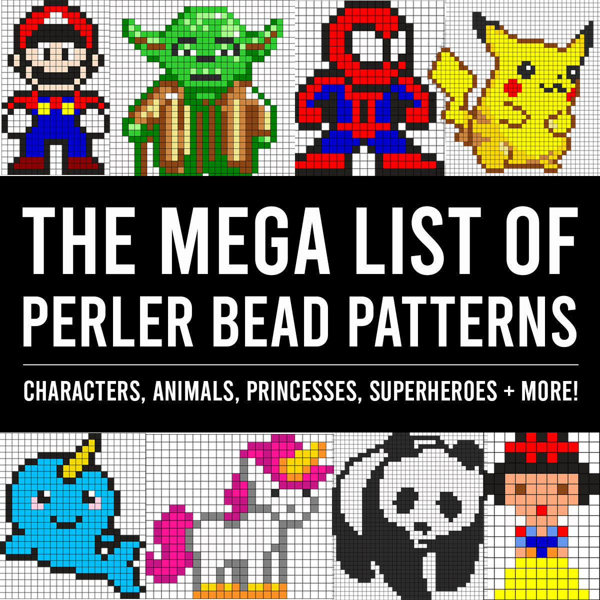 The MEGA list of Perler bead patterns