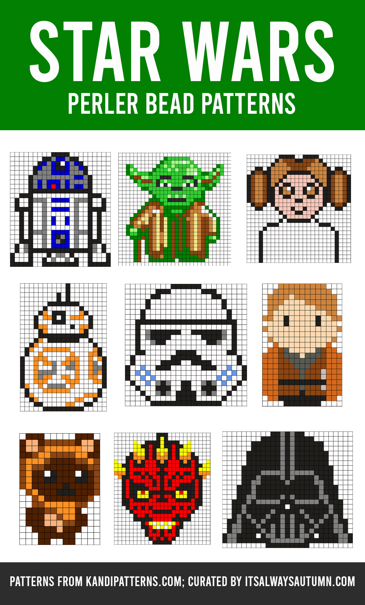 Star Wars Perler bead patternd