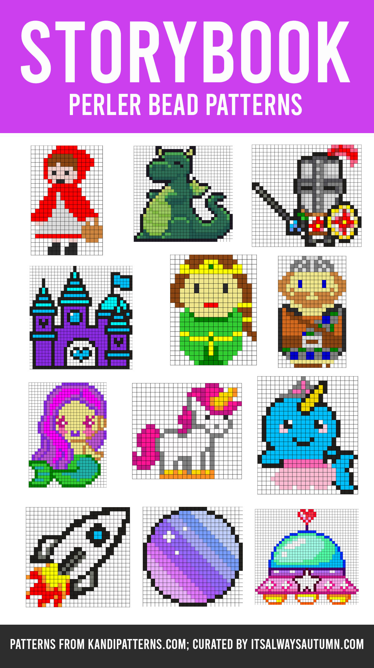 Storybook Perler bead patterns