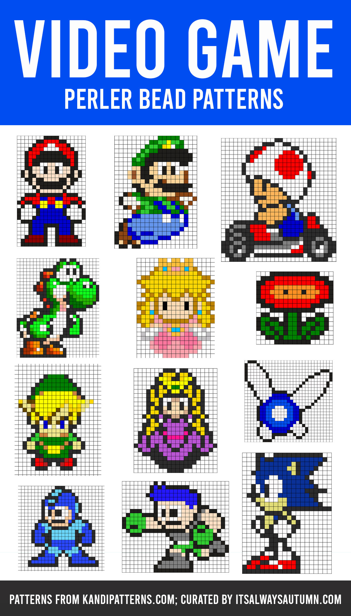 Video Game Perler bead patterns; Mario perler bead patterns