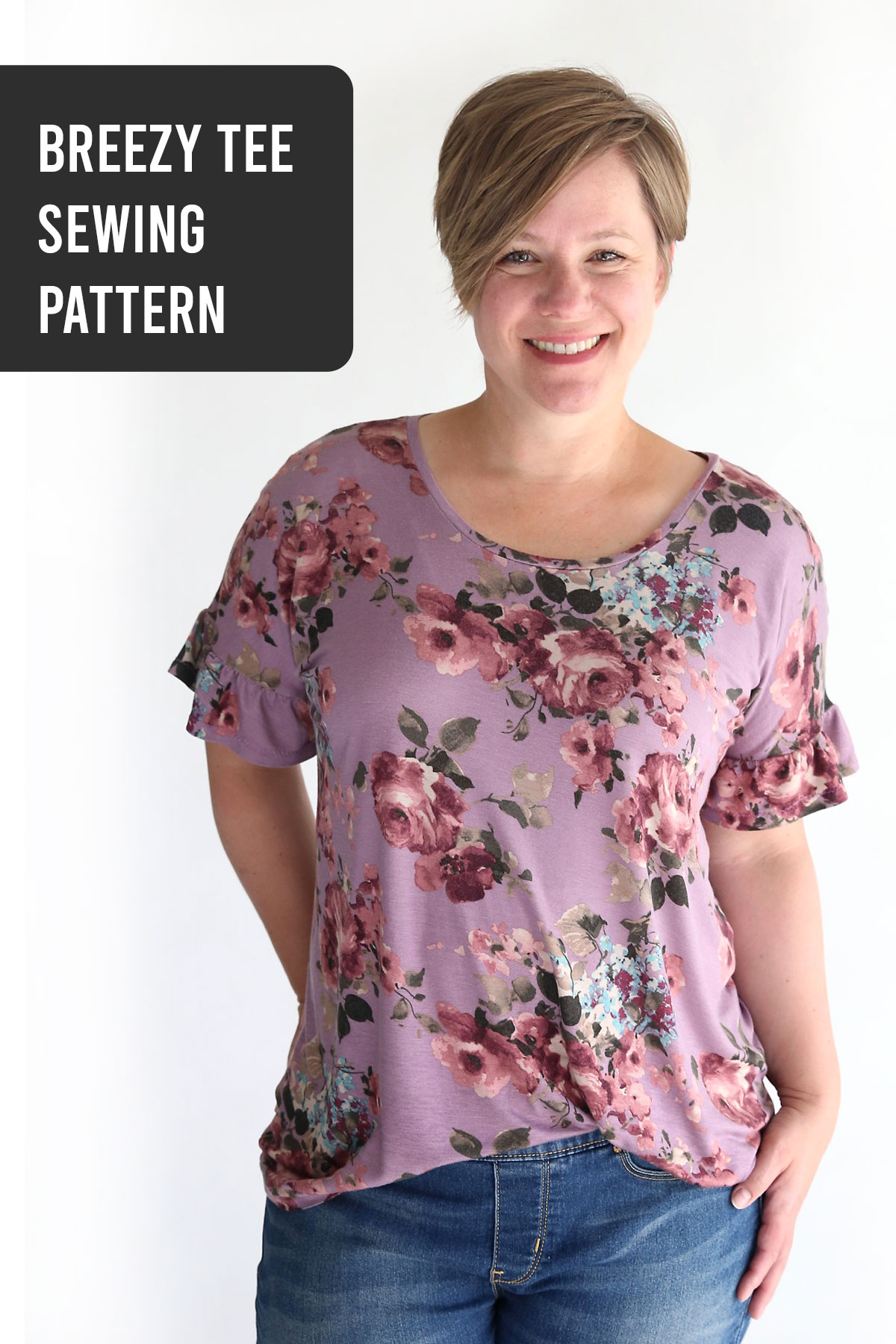 The breezy tee sewing pattern + flutter sleeves