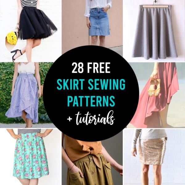 28 free skirt sewing patterns