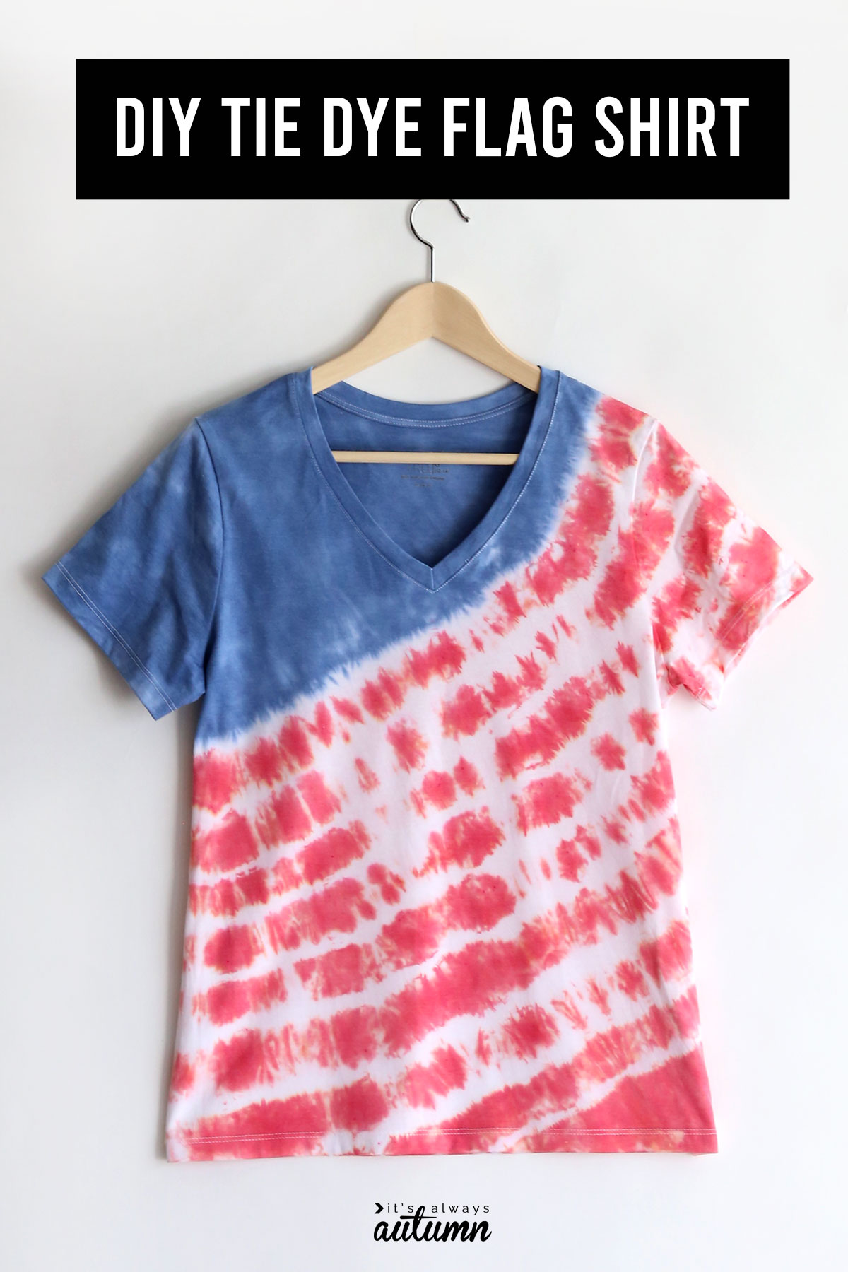 How to make a red white and blue tie dye flag shirt