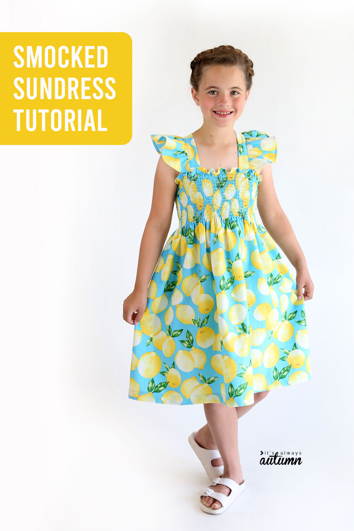 How to make a cute sundress using pre-smocked fabric