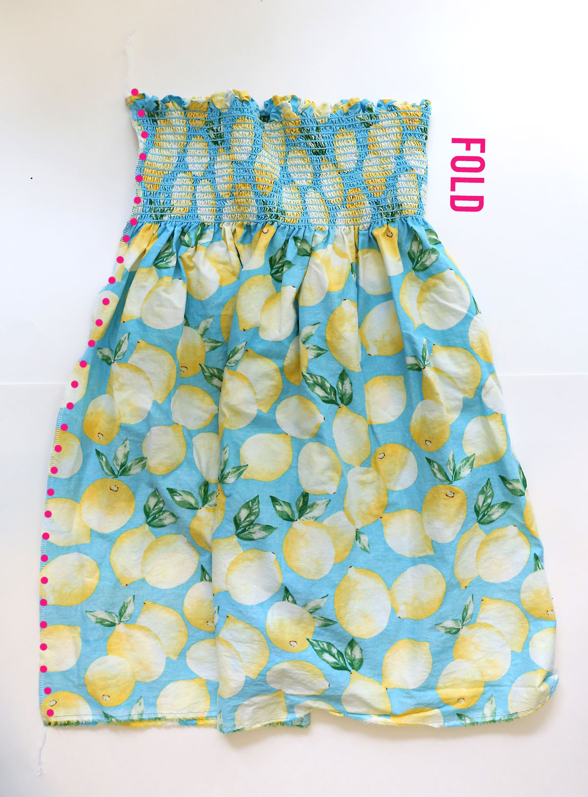 How to make a smocked sundress: sew the back seam