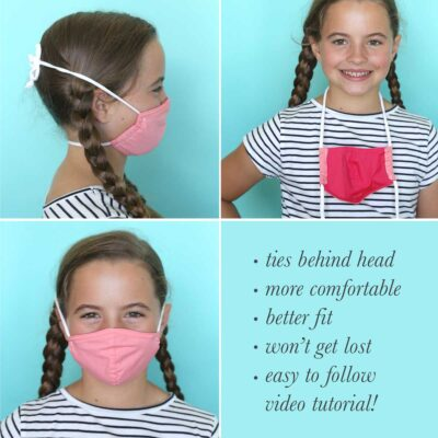 Make your face mask more comfortable with stretchy straps {DIY}