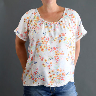 How to Make a Gathered Raglan Blouse {Sewing Pattern}