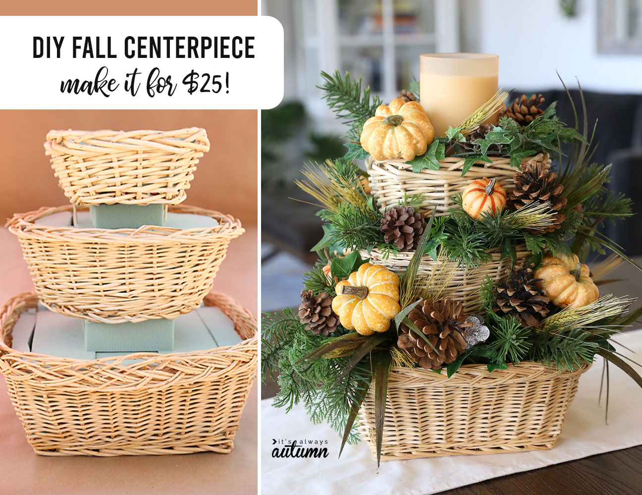 DIY Fall Centerpiece: make it for $25!