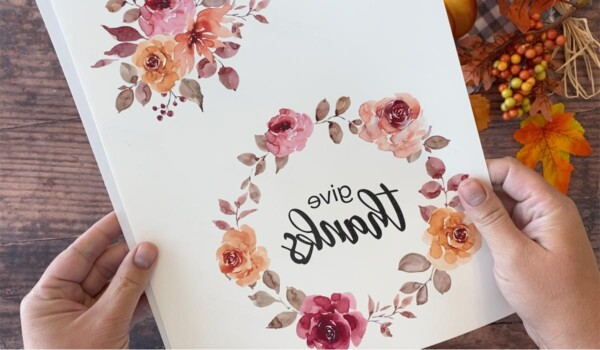 Floral design printed on temporary tattoo paper