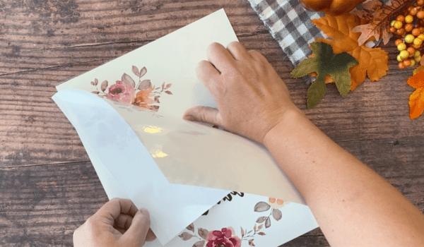 Apply adhesive sheet