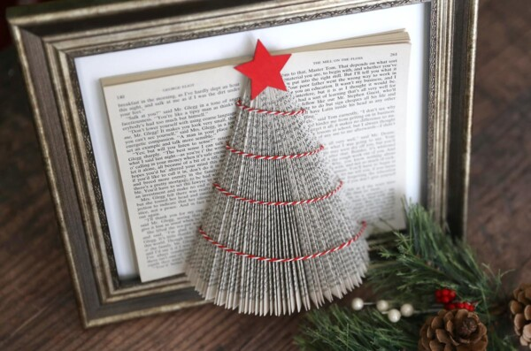 Book paper Christmas tree