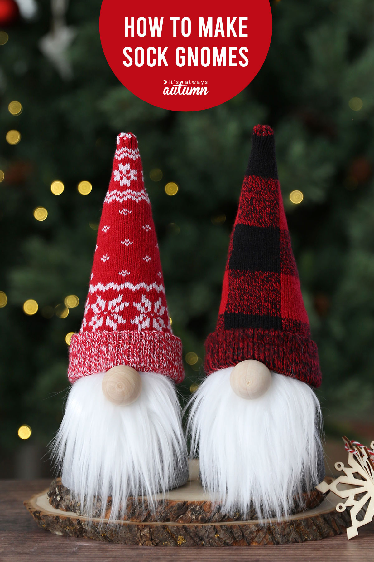 Learn how to make adorable sock gnomes for Christmas or any other holiday!