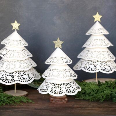 Make Paper Doily Christmas Trees {w/Dollar Store supplies}
