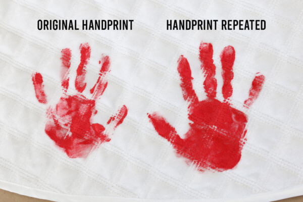 Repeat handprint if needed for darker image