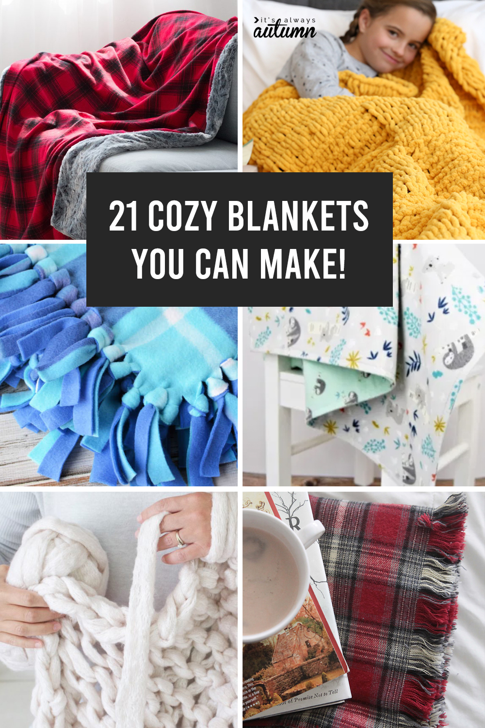 Learn how to make a gorgeous blanket in just a few hours with one of these easy to follow blanket tutorials.