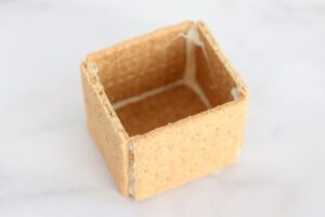 Small box made of graham crackers