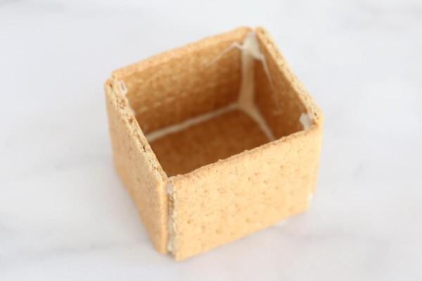 Small box made of graham crackers