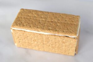 Box made of graham crackers