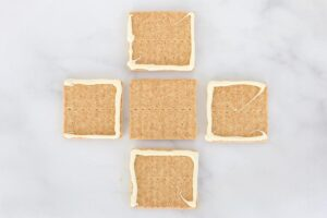 "Graham crackers with melted white chocolate for ""glue"""