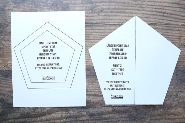 Printable origami star templates