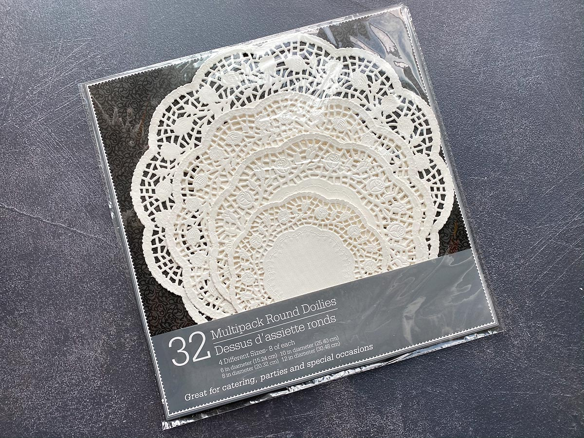 Package of paper doilies