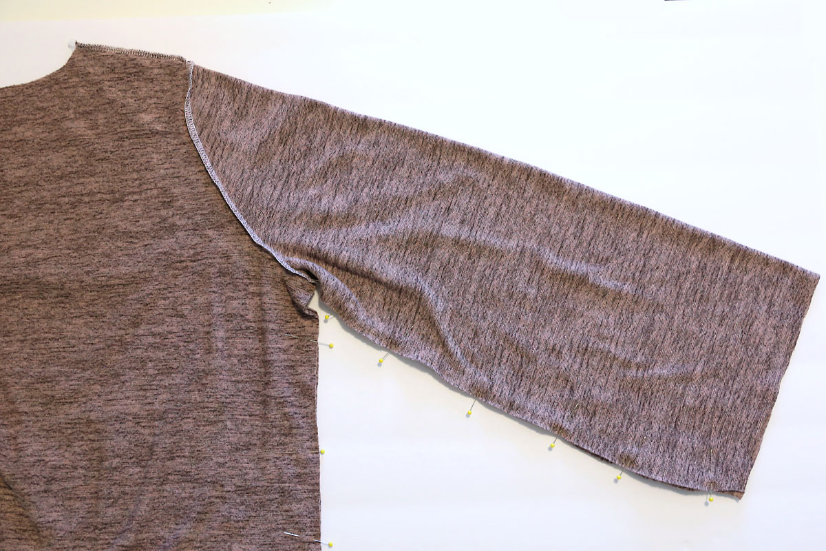 Sleeve ready to be sewn together