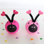 Love bugs made from golf balls