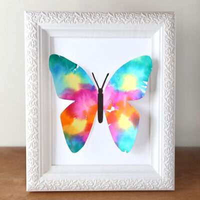Tissue Paper Butterfly Art {easy project for kids}