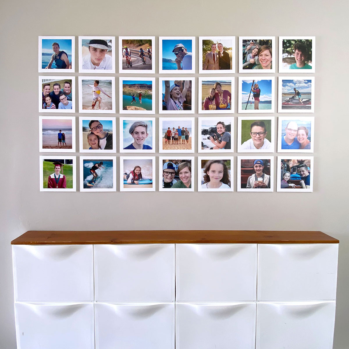 Large photo collage gallery wall