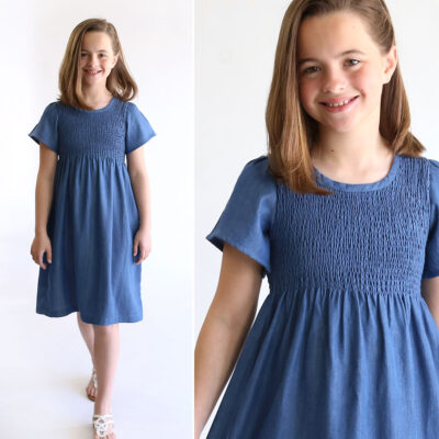 How to make a Smocked Chambray Dress
