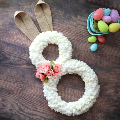 Easter Bunny Wreath {Loop Yarn}