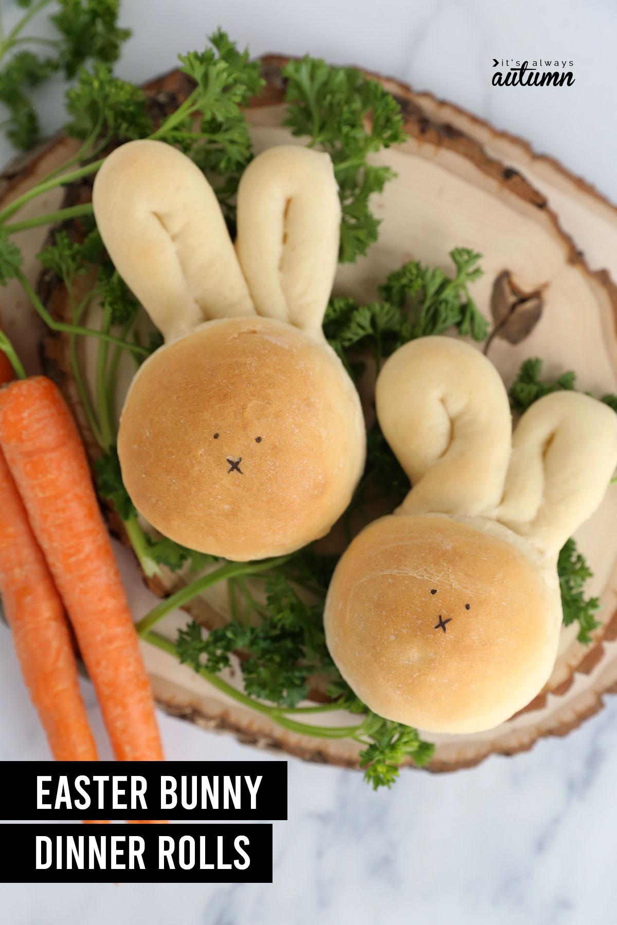 Easter bunny dinner rolls