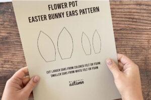 Flower pot Easter bunny ears pattern