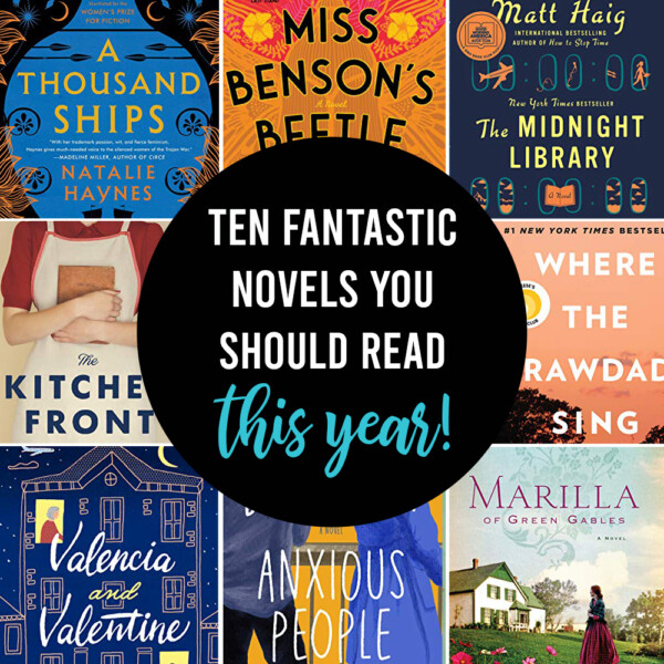 Words: 10 fantastic novels you should read this year!; Collage of book covers