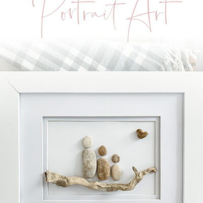 DIY Pebble Family portrait art