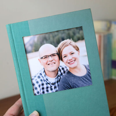Book that's been turned into a photo frame