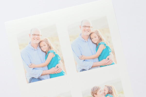 Shrink film printed with photos on it