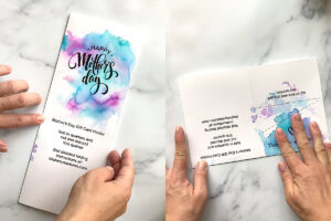 Card template folded in half lengthwise; card template folded in half widthwise