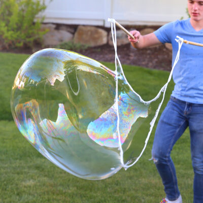 How to make a Giant Bubble Wand for AMAZING bubbles