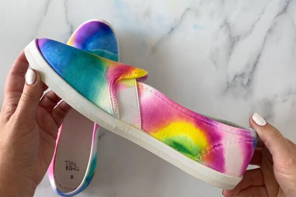 Finished Sharpie dyed shoe