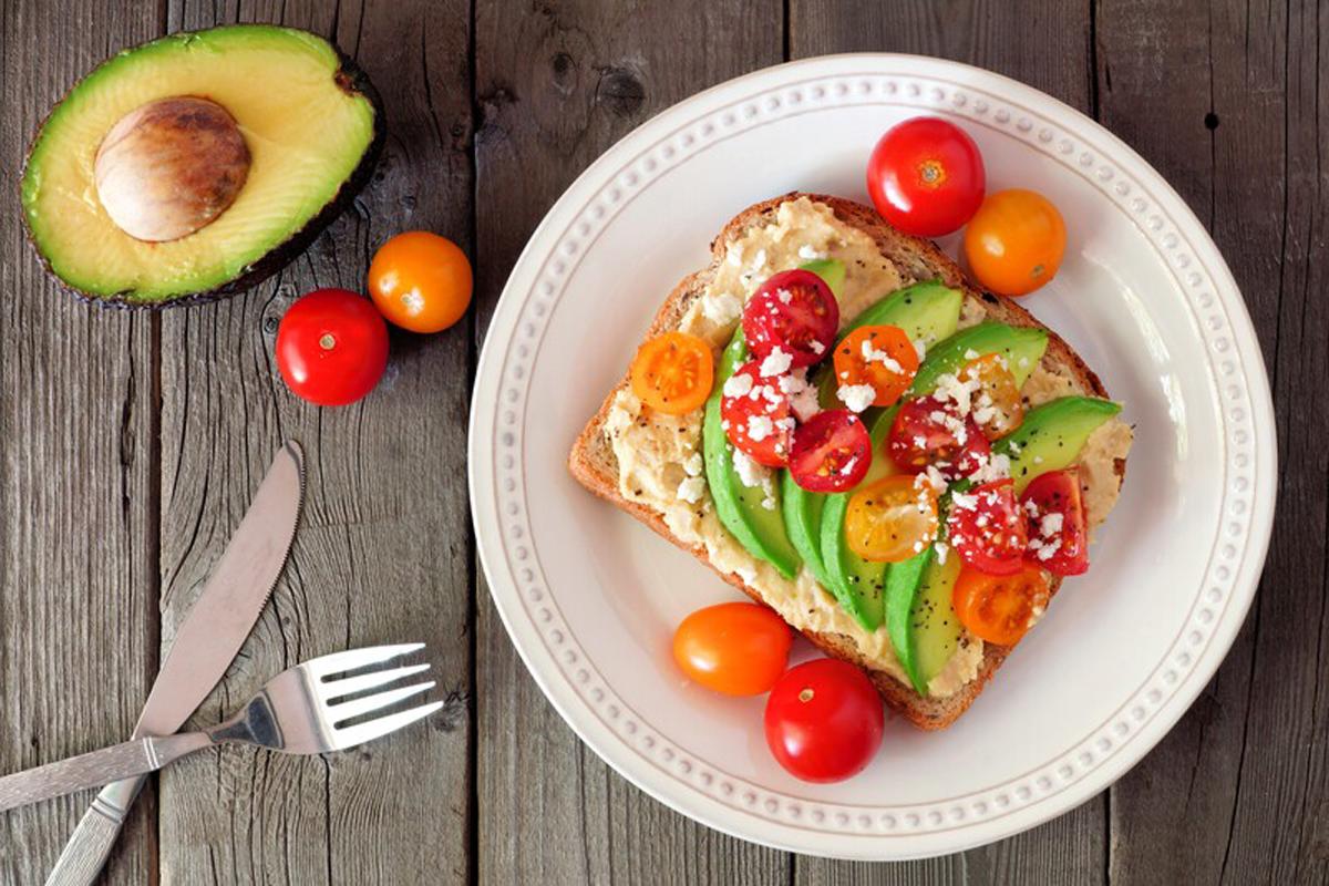 avocado toast with hummus